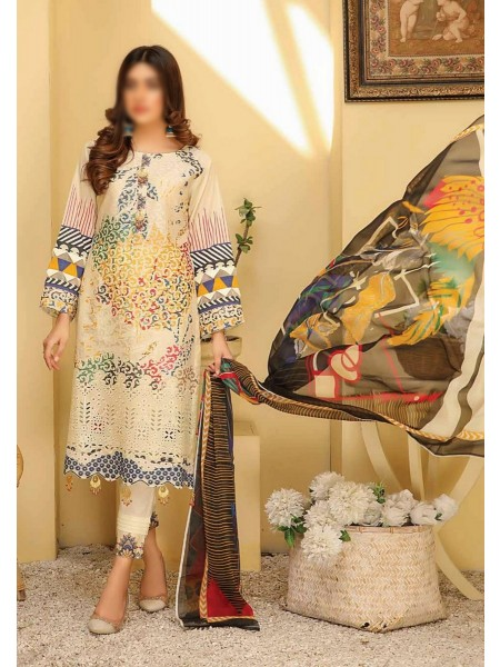 RIAZ ARTS Chikankari Lawn Embroidered Collection D-02