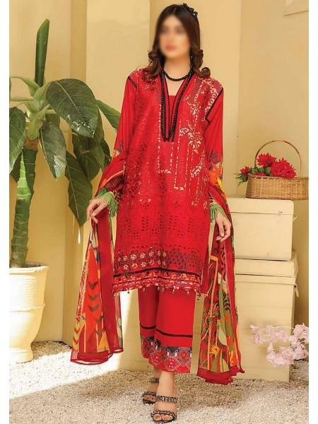 RIAZ ARTS Chikankari Lawn Embroidered Collection D-04