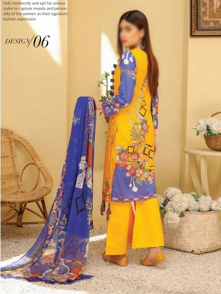 RIAZ ARTS Chikankari Lawn Embroidered Collection D-06