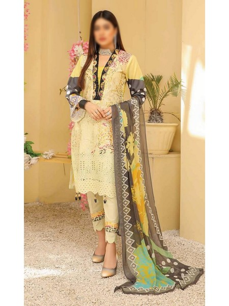 RIAZ ARTS Chikankari Lawn Embroidered Collection D-07