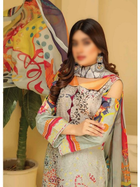 RIAZ ARTS Chikankari Lawn Embroidered Collection D-08