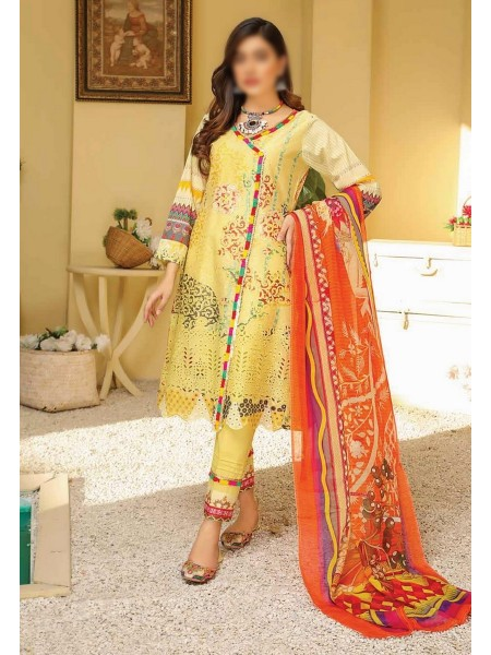 RIAZ ARTS Chikankari Lawn Embroidered Collection D-10
