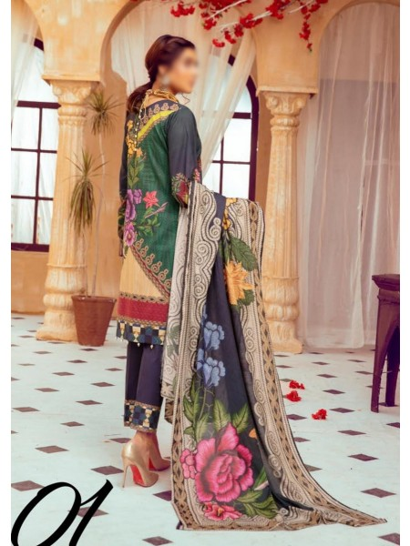 Riaz Arts Mahees Embroidered Lawn Unstitched Collection Vol 8 D-D 01