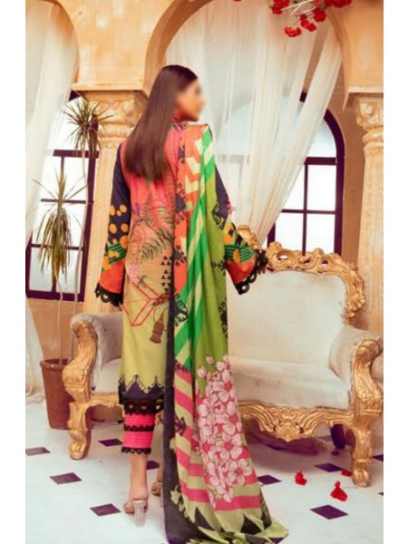 Riaz Arts Mahees Embroidered Lawn Unstitched Collection Vol 8 D-D 02