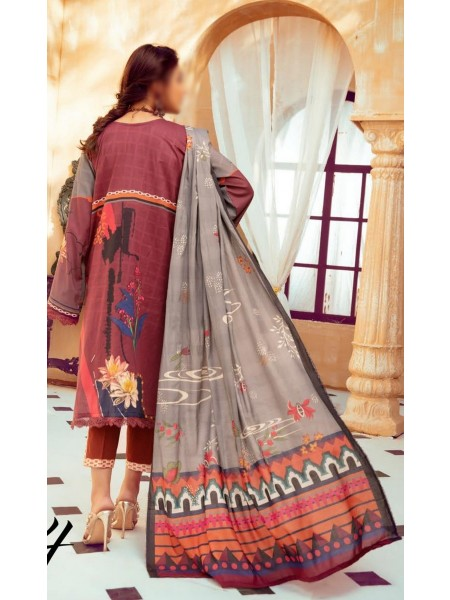 Riaz Arts Mahees Embroidered Lawn Unstitched Collection Vol 8 D-D 04