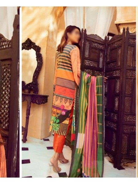 Riaz Arts Mahees Embroidered Lawn Unstitched Collection Vol 8 D-D 07