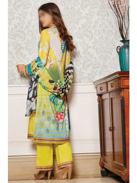 RUHI DIGITAL PRINTED LAWN EMB COLLECTION D-D 08