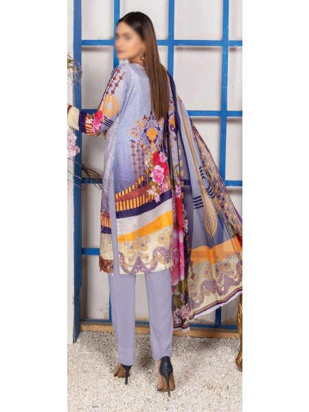 Schiffli Embroidered and Digital Print Lawn Collection Vol 10 D-D 01