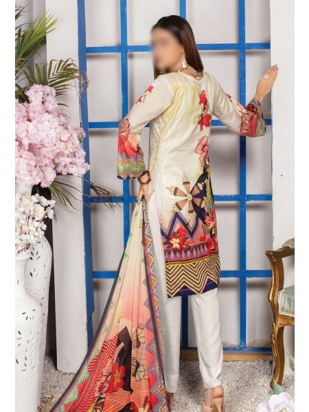 Schiffli Embroidered and Digital Print Lawn Collection Vol 10 D-D 04
