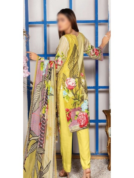 Schiffli Embroidered and Digital Print Lawn Collection Vol 10 D-D 05