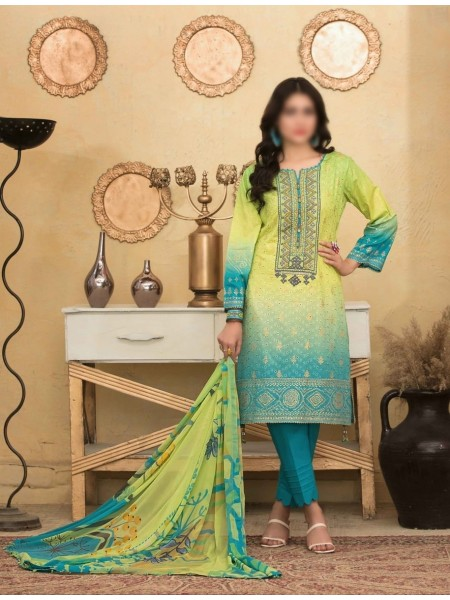 Tawakkal Alluring Aesthetics Shaded Unstitched Lawn Schiffli And Embroidery Collection D-1054