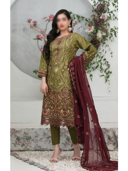 Tawakkal Aslihan Embroidered Jacquard Lawn Collection D-Design 02