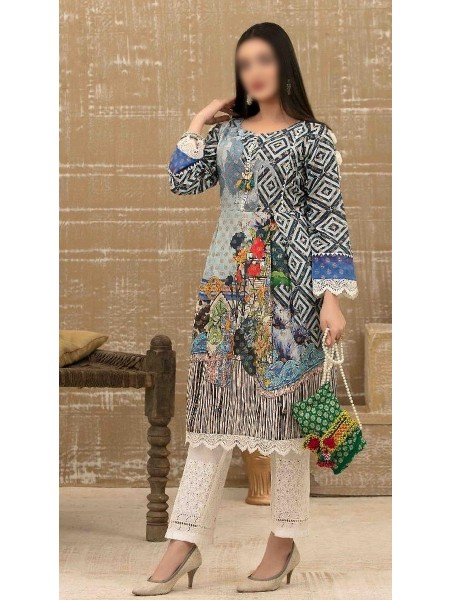 Tawakkal Casual Summer Lawn Broshia Digital Print Kurti Collection D-D 9175