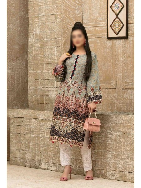 Tawakkal Casual Summer Lawn Broshia Digital Print Kurti Collection D-D 9181
