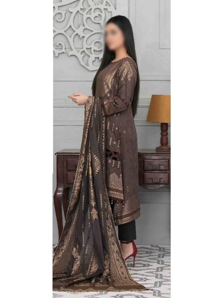 TAWAKKAL Go Bold with Gold Lawn Broshia Banarsi Unstitched Collection D-1548