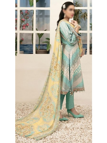 TAWAKKAL Renne Printed and Embroidered Lawn Collection D-1452 A