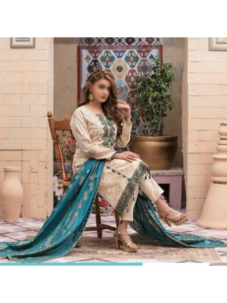 Tawakkal Roshni Banarsi Boring Embroidery Unstitched Collection D-1325