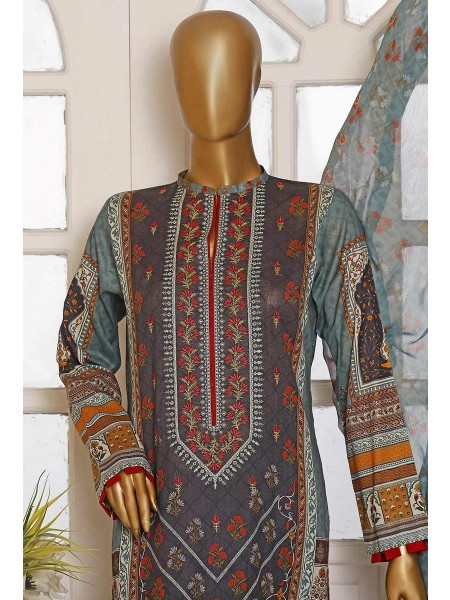 HZ Textile Diamond Supreme Legacy Embroidered Chiffon Dupatta Collection D-DSE-1011