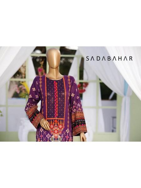 Sadabahar Stitched Print Kurtis21 D-03