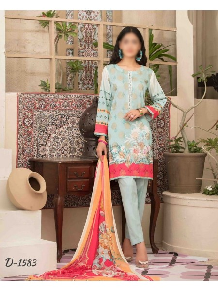 Tawakkal Spirit of Exuberance Lawn Banarsi Collection D-1583