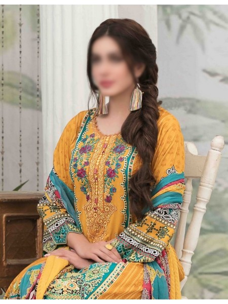 Tawakkal Summer Medley Lawn Printed And Embroidered Collection D-1473 B