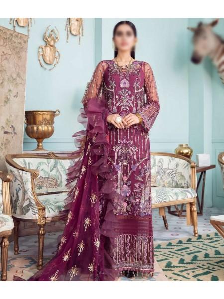 Afrozeh La Fuchsia Luxury Chiffon Collection 21 D-03 LADY GRACE
