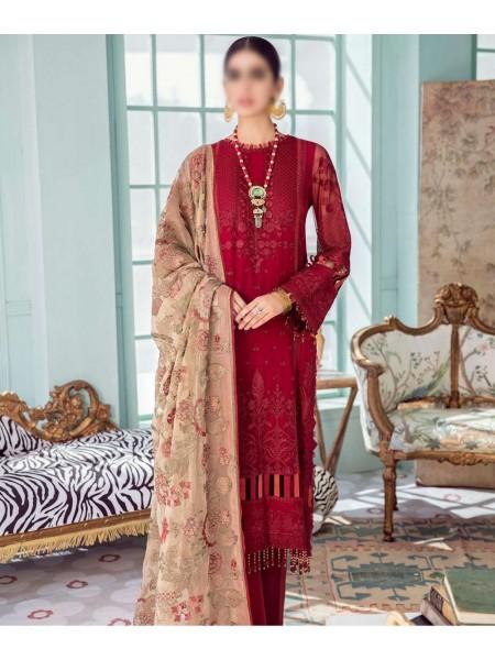 Afrozeh La Fuchsia Luxury Chiffon Collection 21 D-05 CORAL MIST