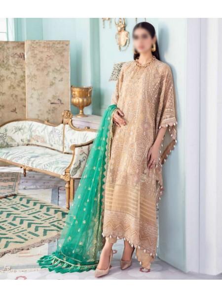 Afrozeh La Fuchsia Luxury Chiffon Collection 21 D-08 CANDLE LIGHT
