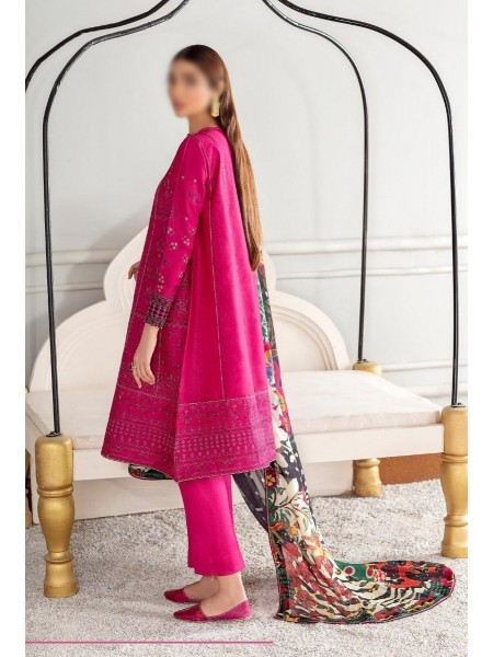 BAROQUE Fuchsia Lawn Embroidered Collection D-09 JINAN