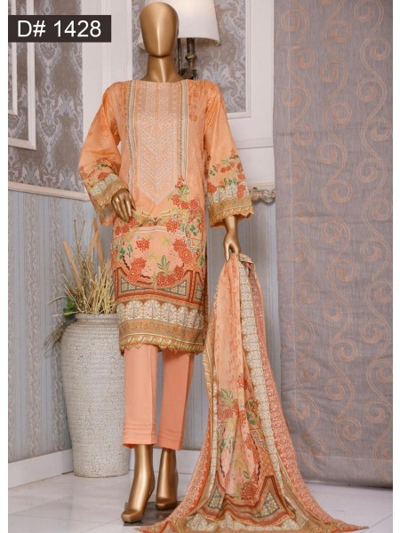 Bin Saeed Embroidered Collection 2021 Vol 12 D 1428
