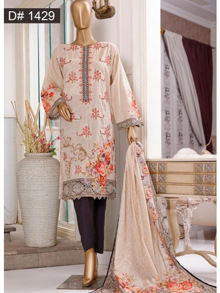 Bin Saeed Embroidered Collection 2021 Vol 12 D 1429