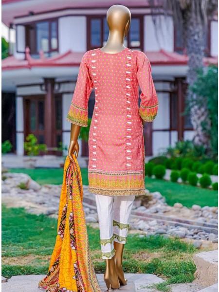 Bin Saeed Fariha And Farah Naz Printed Lawn'21 Vol-03 D-05