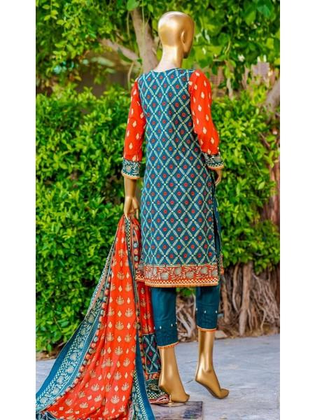 Bin Saeed Fariha And Farah Naz Printed Lawn'21 Vol-03 D-10