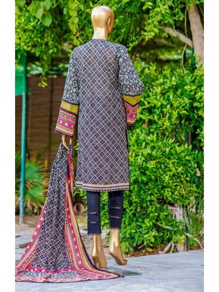 Bin Saeed Fariha And Farah Naz Printed Lawn'21 Vol-03 D-11