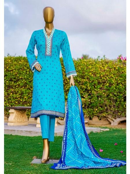 Bin Saeed Fariha And Farah Naz Printed Lawn'21 Vol-03 D-14