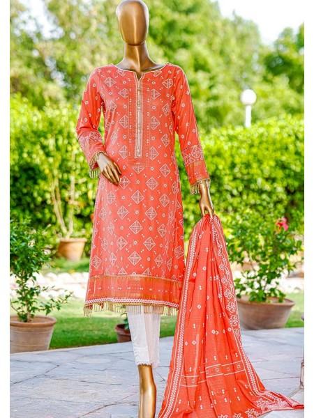 Bin Saeed Fariha And Farah Naz Printed Lawn'21 Vol-03 D-15