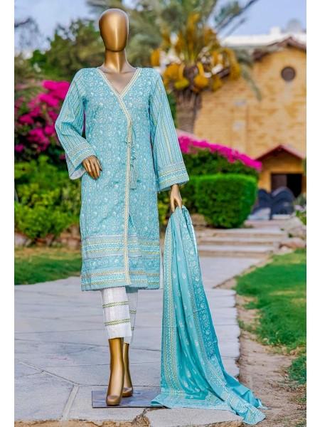 Bin Saeed Fariha And Farah Naz Printed Lawn'21 Vol-03 D-16