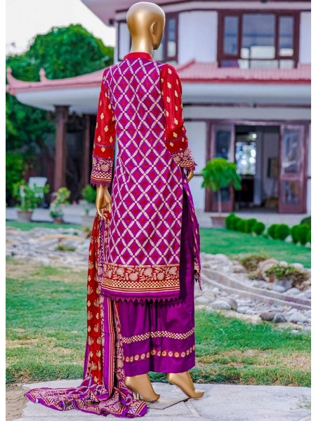 Bin Saeed Fariha And Farah Naz Printed Lawn'21 Vol-03 D-17
