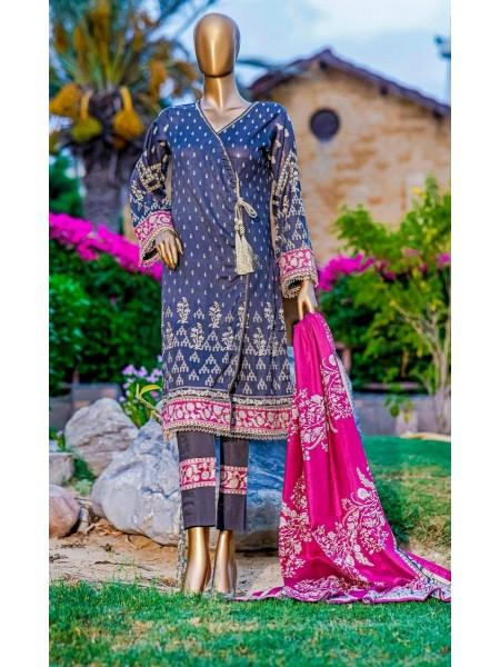 Bin Saeed Fariha And Farah Naz Printed Lawn'21 Vol-03 D-20