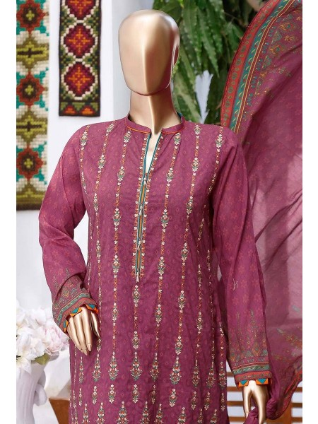 HZ TEXTILE Premium Embroidered Chapter 3 Unstitched Collection DPEL 1033