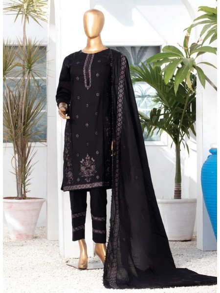 MTF DASTAAN BLACK & WHITE EMBROIDERED LAWN COLLECTION21 D01