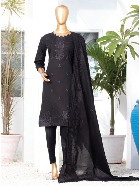 MTF DASTAAN BLACK & WHITE EMBROIDERED LAWN COLLECTION21 D03