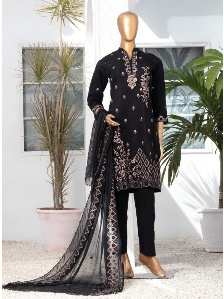 MTF DASTAAN BLACK & WHITE EMBROIDERED LAWN COLLECTION21 D05