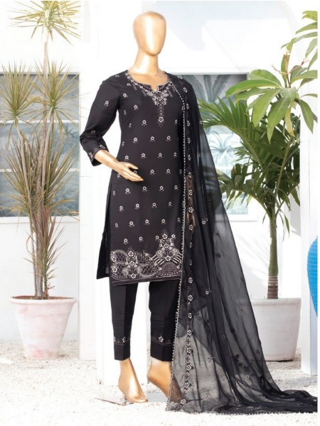 MTF DASTAAN BLACK & WHITE EMBROIDERED LAWN COLLECTION21 D07