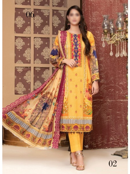 MTF ROSETTE DIGITAL PRINTED LAWN COLLECTION'21 D-02