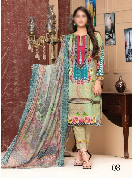 MTF ROSETTE DIGITAL PRINTED LAWN COLLECTION'21 D-08
