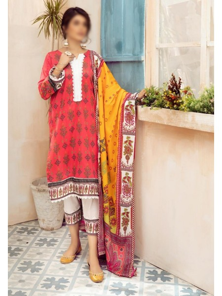 NUR Girls Printed Lawn Collection D-NG 322