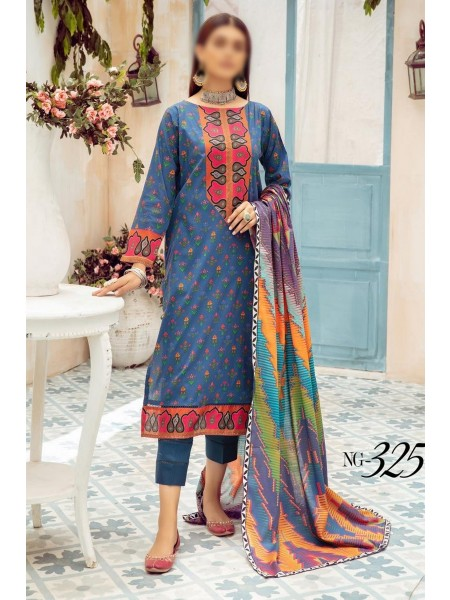 NUR Girls Printed Lawn Collection D-NG 325