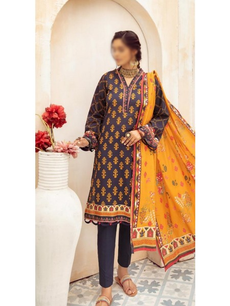 NUR Girls Printed Lawn Collection D-NG 326