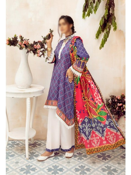 NUR Girls Printed Lawn Collection D-NG 330